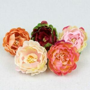 15pcs/Lot Assorted colors 2.36inch Silk Peony Heads Artificial Peony Flower DIY