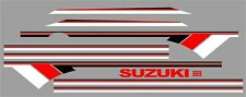 SUZUKI SAMURAI DECALS LINES STICKERS CALCOMANIAS GRAFICAS WHITE RED & BLACK 3M