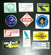 Coal Mine Mining Hard Hat Stickers Assorted Decal Lot