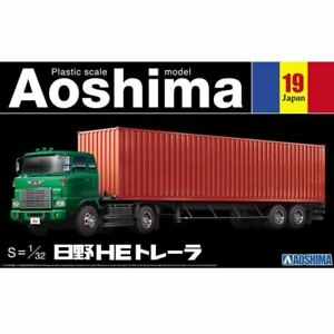 Aoshima 1/32 Hino HE Trailer Kit (New)