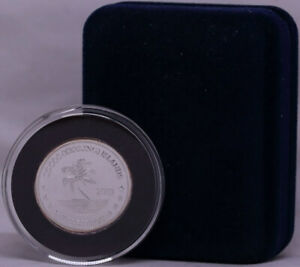 Keeling Cocos Islands 2003 Silver 10 Dollar Proof KM# X8 Missing Legend Error