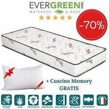 EVERGREENWEB ✅ Materasso Singolo 80x195 Traspirante + Cuscino GRATIS 🎁