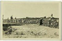 RPPC Entrance Becker Lodge Camp Mack Stone Wall Indiana IN Real Photo Postcard