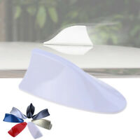 Universal White Car Auto Shark Fin Roof Antenna Dummy Decorative Aerial Trim