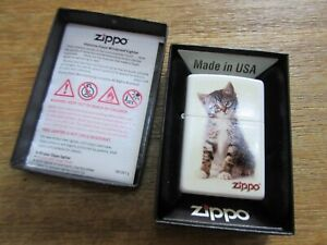Original Zippo Katze Katzenjunges Cat Puppie Lighter Sturmfeuerzeug Made in USA