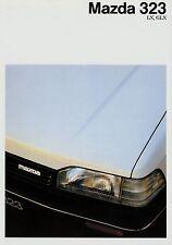 MAZDA 323 LX GLX prospetto 10/87 auto prospetto opuscolo 1987 brochure broschyr