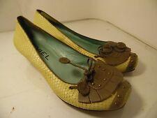 Biviel Beige kitten Heels tasell Shoes Womens Size 40