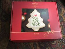 New Lenox Dimension Collection Holiday Holly Berry Tree Candy / Nut Dish - Nib