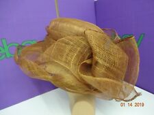 Ex Display Brown Formal hat with Large Bow Detail