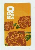 Qdoba Gift Card - Mexican Grill Restaurant / Roses - No Value - I Combine Ship