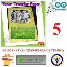 5 Hojas Papel A4 Heat Toner PCB DIY Transferencia Termica Placa Cobre Robot  P01