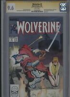 Wolverine #3 CGC 9.6 SS Kevin Nowlan 1989 John Buscema AL WILLIAMSON