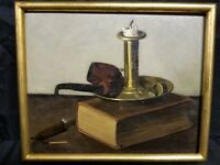 Still Life Oil on Board Signed G.A. Singerly 1896 Style of John Frederick Peto
