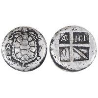 1x Antike griechische Silbermünze Kleine Sammlung Versilberung MÜNZ&iG3D WZ JE