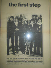 VINTAGE SMALL FACES DEBUT ALBUM THE FIRST STEP STEWART RON WOOD AD PINUP POSTER
