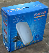Flat 440 dish antenna c/w LNB compact easy store camping caravaners temporary