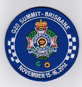 Australia - Queensland Police G20 Summit Brisbane 2014 Patch (social)