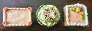 3 PORCELAIN CAKES HAND MADE AND DECORTED #6