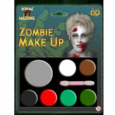 Scream Machine marca Zombie Maquillaje Kit Para Halloween Disfraces y Vestido de fantasía