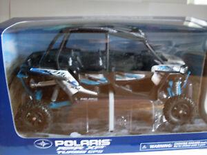 Polaris Rzr XP 4 1000 Titane Blanc/Bl Atv Modèle 1:18, NewRay