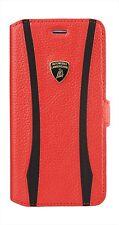 "Lamborghini ET-D1 Leather Ultra Slim Side Flip Case for iPhone 6/6s 4.7"" Red"