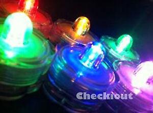 60 LED submersible RGB Color Wedding Party Floral Decorate VaseTea Candle light