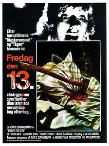 FRIDAY THE 13th Movie Poster RARE Jason Voorhees Horror