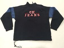 Vintage Calvin Klein CK Jeans asymetric zip sweatshirt pullover Size M