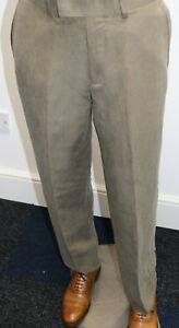 Silk and Linen Trousers in Mink
