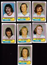 1975 O-PEE-CHEE WHA Team SET Lot of 7 Ottawa CIVICS NM- NEWTON ROCHON OPC