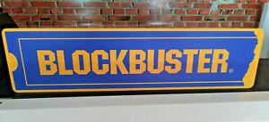 """BLOCKBUSTER Aluminum Display Sign  6"""" x 24"""""""