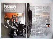 COUPURE DE PRESSE-CLIPPING :  RUSH [2pages] 2002 Gebby Lee,Alex Lifeson,Vapor...