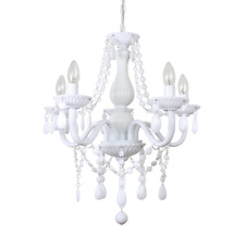 Modern Gloss White Marie Therese Jewel Chandelier Ceiling Light Bedroom Lounge