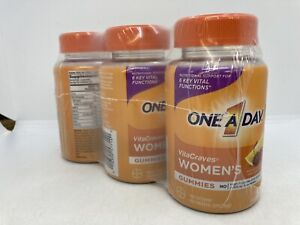 Lot of 3 One A Day Women's VitaCraves Multivitamin Gummies ~ 40 Each Exp 06/2022