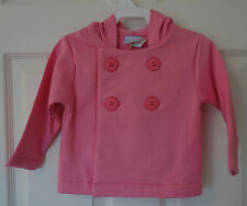 Nwt Bella Bliss Hot Pink Cotton Knit Peacoat ~ Girl's Size 12 Month ~ So Cute!
