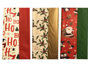 8 Sheets Christmas Tissue Wrapping Paper, Presents Gift Wrap,  Luxury 50 x 70