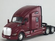 "1/64 DCP RED KENWORTH T680 W/ HIGH ROOF 76"" SLEEPER"