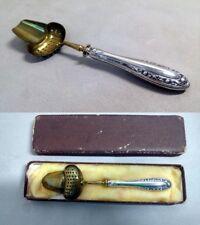 Tee Sieb 800er F.G.Silber tea strainer silver cutlery couverts en argent antique