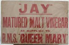 CUNARD WHITE STAR LINE RMS QUEEN MARY MAIDEN VOYAGE TRADE ADVERTISING CARD 1936