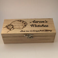 Wooden Watch Box personalised pyrography gift