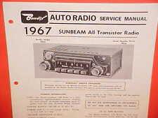 1967 SUNBEAM ALPINE GT TIGER CONVERTIBLE RAPIER BENDIX AM RADIO SERVICE MANUAL
