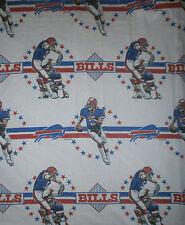 vtg 90s BUFFALO BILLS SHEETS SET Football Bedding Flat Fitted Pillowcase TWIN