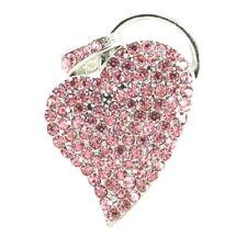 32GB Silver Pink Diamante Heart Love Novelty Gift USB2.0 Pen Drive Memory Stick
