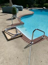 Pool deck mounted stainless steel handrails brand new