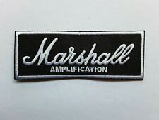 MARSHALL AMPLIFICATION ROCK METAL BLUES PUNK MUSIC EMBROIDERED PATCH UK SELLER