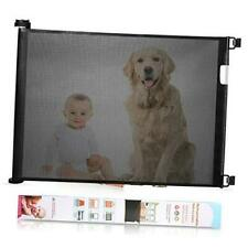 Retractable Baby Gate Wide Safety Mesh Gate Easy to 54 Inch (Pack of 1) Black