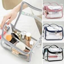 Clear Toiletry Cosmetic Transparent PVC Bags Travel Makeup Bag Pouch Handbag -US