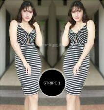 Mona Tie Bodycon Dress F1 (Stripe 1)