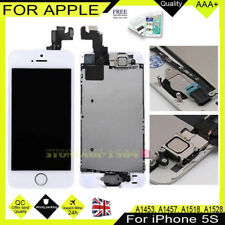 For iPhone 5S LCD Display Screen Touch Digitizer Home Button White High Quality