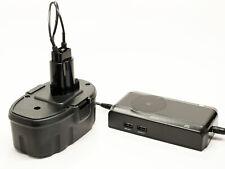 Battery +Charger works with DeWalt DC9096, DW9096, DC547K 18V 1300mAh